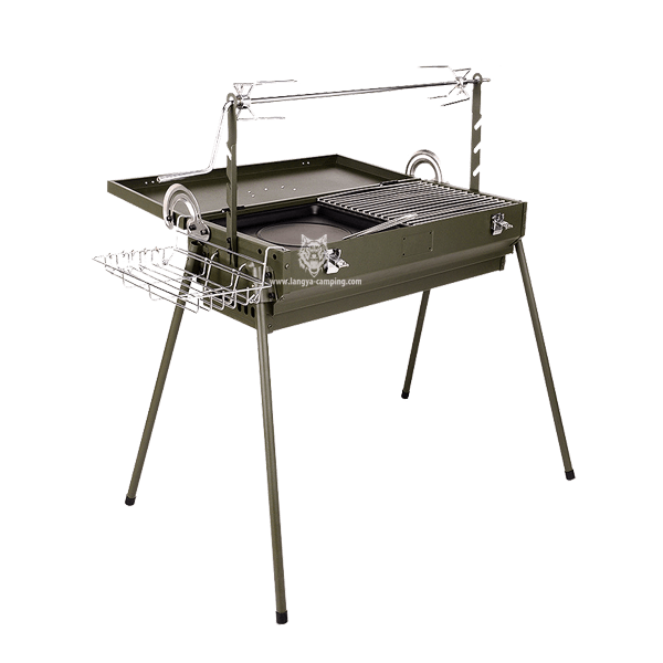 Multifunctional smoke free charcoal bbq grill LY-952N