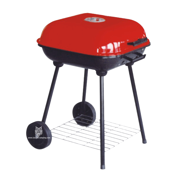Easily assembled portable kettle smoke free bbq grill LY-263N