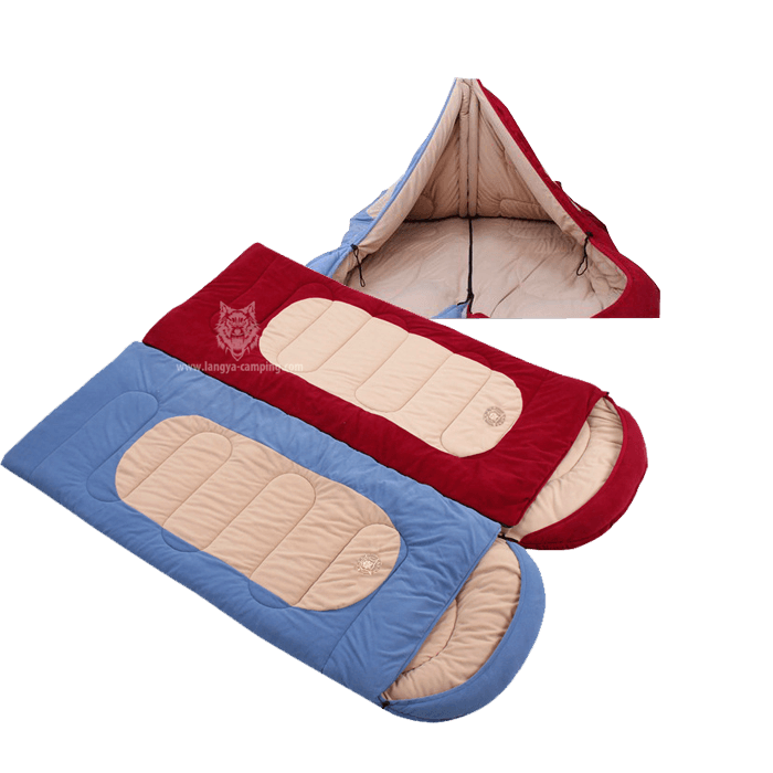 Polar fleece super soft sleeping bag HS-773
