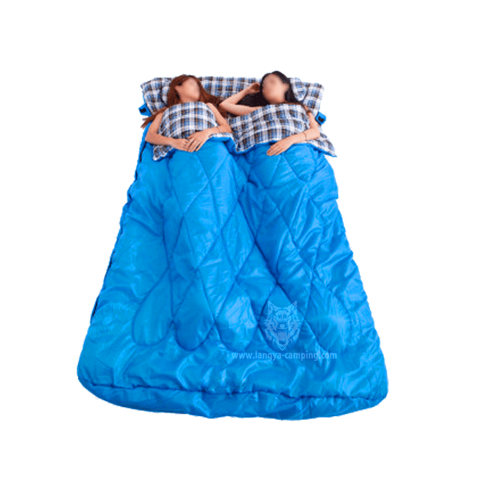 Queen Size 2 Person Flannel Sleeping Bag