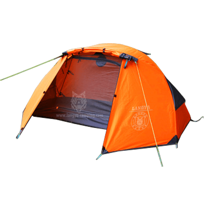 Double layer single man waterproof tent  sc 1 st  Huangshan Langya C&ing products Co. Ltd. & single man tentwaterproof tent1 man tent2 layer tent